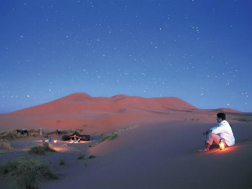 The sand dunes of the desert in Ouarzazate, Morocco